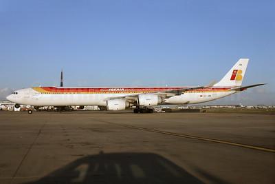 Iberia's Twitter Airbus A340-600 logo jet