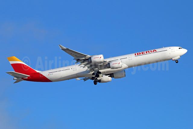 Iberia Airbus A340-642 EC-KZI (msn 1017) LAX (Michael B. Ing). Image: 933643.