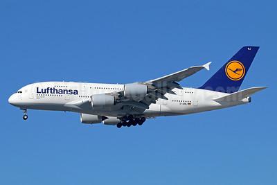 Lufthansa Airbus A380-841 D-AIMJ (msn 073) LAX (Michael B. Ing). Image: 93070.