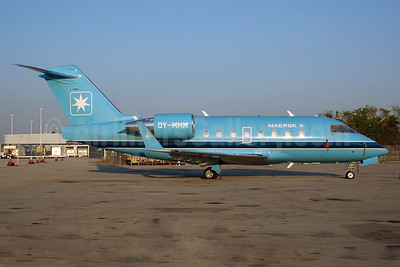 Maersk Air (Denmark) Bombardier Challenger  604 (CL-600-2B16) OY-MMM (msn 5430) MIA (Bruce Drum). Image: 104215.