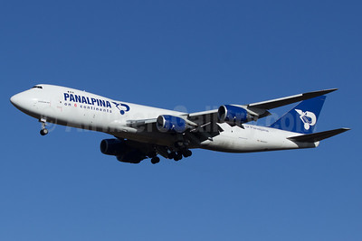 Panalpina (Atlas Air) Boeing 747-87UF N850GT (msn 37570) (Panalpina on 6 Continents) STN (Paul Ferry). Image: 928603.