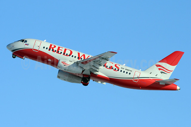 Red Wings Airlines Sukhoi Superjet 100-95B RA-89010 (msn 95018) DME (OSDU). Image:  933242.