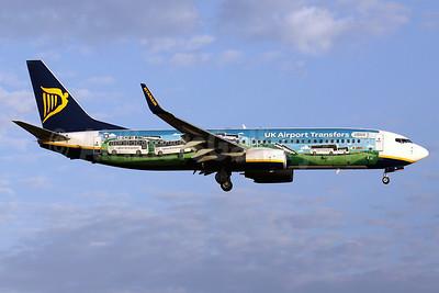 "Ryanair's ""UK Airport Transfers"" logo jet"