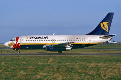 Ryanair Boeing 737-204 EI-CJF (msn 22967) (Merry Christmas) DUB (SM Fitzwilliams Collection). Image: 922255.