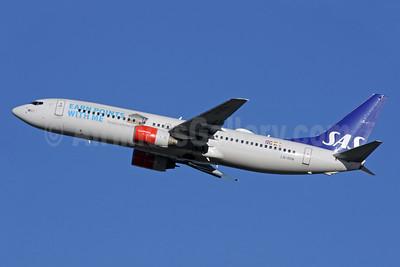 Scandinavian Airlines-SAS Boeing 737-883 LN-RPM (msn 30195) (Eurobonus - Earn points with me) LHR (Antony J. Best). Image: 929128.