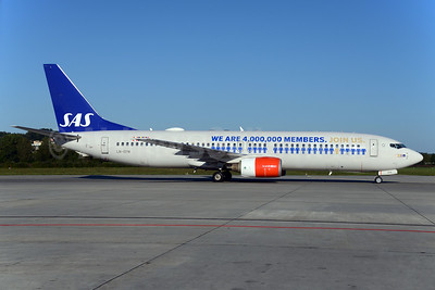 Special promotional livery for the SAS credit card