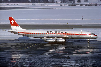 Swissair McDonnell Douglas DC-8-62 HB-IDG (msn 45925) ZRH (Christian Volpati Collection). Image: 932687.