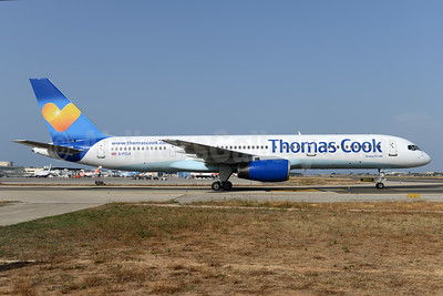 Thomas Cook Airlines (UK) Boeing 757-2Y0 G-FCLK (msn 26161) (Sunny Heart) PMI (Ton Jochems). Image: 923710.