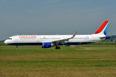 First Transaero Airbus A321, delivered July 17, 2015