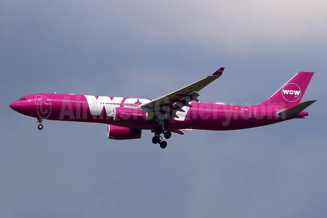 Wow Air's first Airbus A330, leased from Air Europa