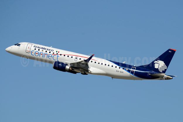 AeroMexico Connect Embraer ERJ 190-100LR XA-GAI (msn 19000672) LAX (Jay Selman). Image: 403676.