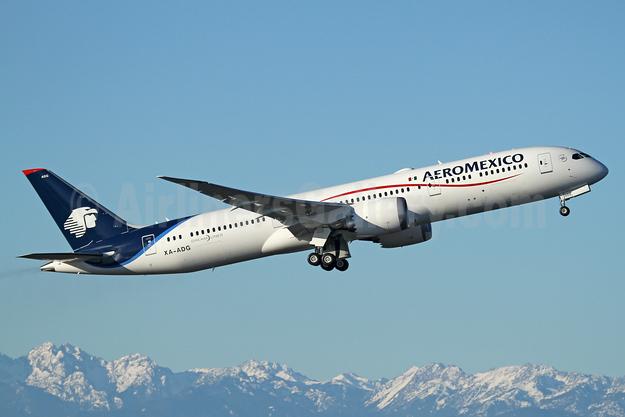 AeroMexico Boeing 787-9 Dreamliner XA-ADG (msn 44426) PAE (Nick Dean). Image: 940208.