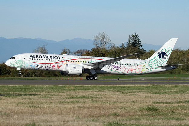 """Quetzalcoatl"", AeroMexico's first Boeing 787-9 Dreamliner, delivered on October 12, 2016"