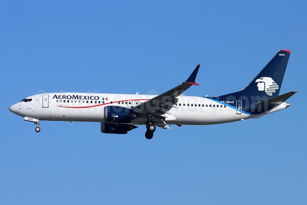 AeroMexico Boeing 737-8 MAX 8 XA-MAQ (msn 43710) LAX (Michael B. Ing). Image: 953030.