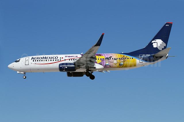 AeroMexico Boeing 737-852 WL EI-DRA (msn 35114) (Teleton 2012 - Telethon 2012) LAX (James Helbock). Image: 909585.