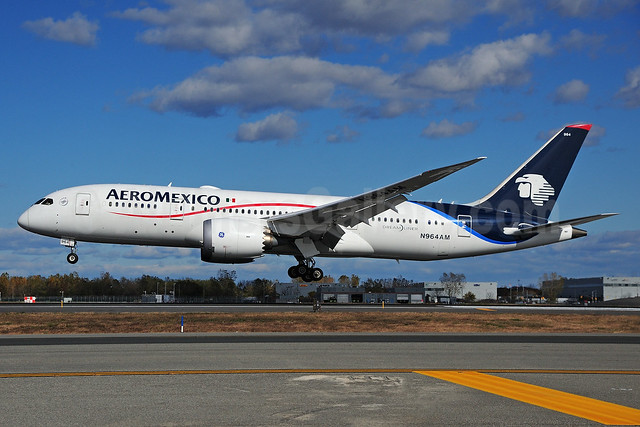 AeroMexico Boeing 787-8 Dreamliner N964AM (msn 35307) JFK (Fred Freketic). Image: 935493.