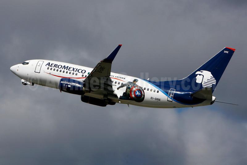 AeroMexico Boeing 737-752 WL EI-DRE (msn 35787) (Captain America) YUL (Gilbert Hechema). Image: 907102.