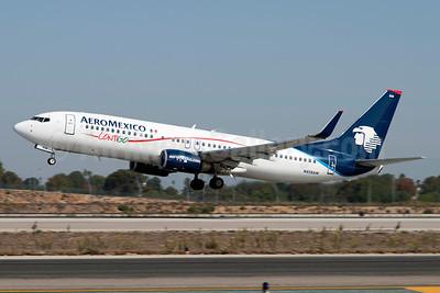 AeroMexico Contigo Boeing 737-8Q8 WL N858AM (msn 30671) LAX (Roy Lock). Image: 920875.