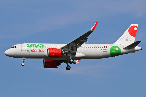 The first Airbus A320neo for VivaAerobus