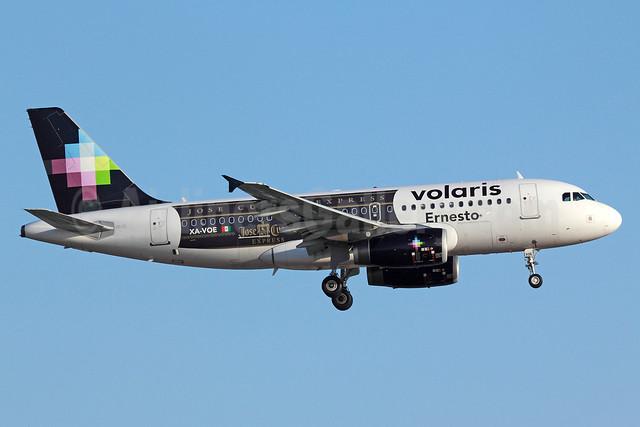 "Volaris Airbus A319-133 XA-VOE (msn 3069) ""Jose Cuervo Express"" LAX (Michael B. Ing). Image: 912704."