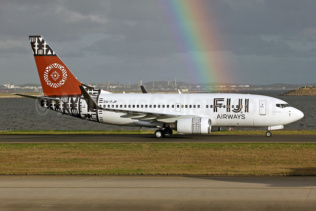 Fiji Airways (2nd) Boeing 737-7X2 WL DQ-FJF (msn 28878) SYD (John Adlard). Image: 913224.