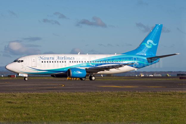 Nauru Airlines Boeing 737-3U3 VH-ONU (msn 28732) AKL (Colin Hunter). Image: 938650.