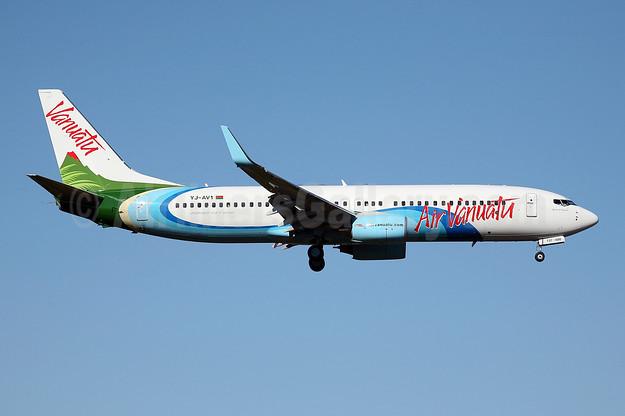 Air Vanuatu Boeing 737-8Q8 WL YJ-AV1 (msn 30734) SYD (John Adlard). Image: 901990.