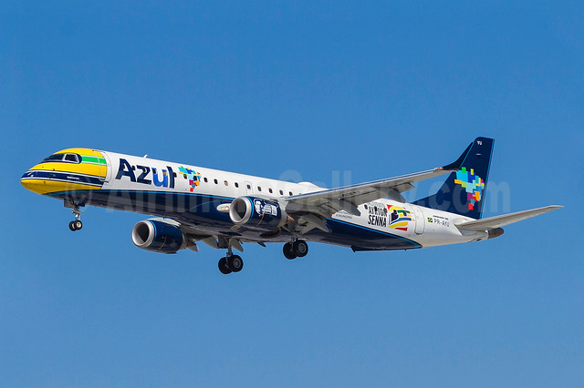 Azul's new Instituto Ayrton Senna logo jet