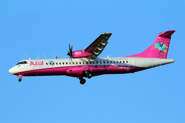 Azul Linhas Aereas Brasileiras ATR 72-212A (ATR 72-600) PR-ATB (msn 969) (Azul and ATR Fight Against Breast Cancer) VCP (Marcelo F. De Biasi). Image: 908075.