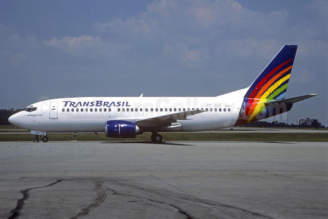 Trans Brasil (Transbrasil Linhas Aereas) Boeing 737-33A PT-TEX (msn 23827) POA (Christian Volpati). Image: 937893.