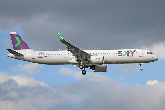 Sky's first Airbus A321neo, will become CC-DCA
