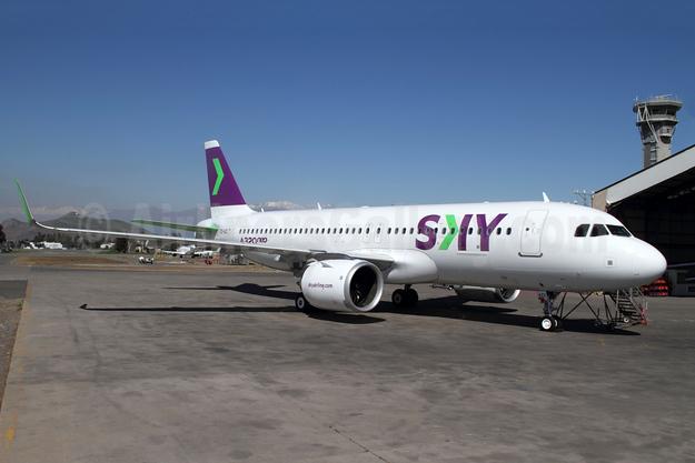 Sky Airline (Chile) Airbus A320-251N WL CC-AZC (msn 8444) SCL (Alvaro Romero). Image: 943806.