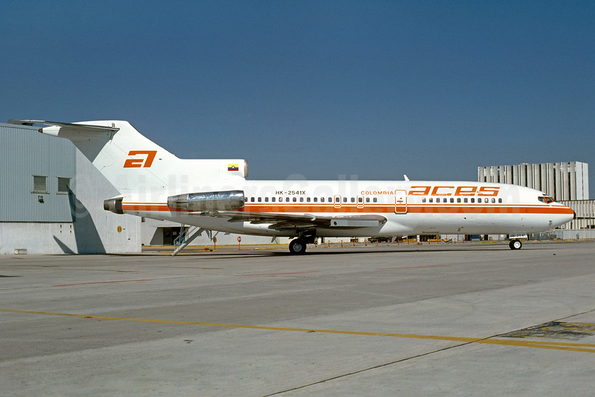 ACES Colombia Boeing 727-25 HK-2541X (msn 18281) MIA (Bruce Drum). Image: 102919.