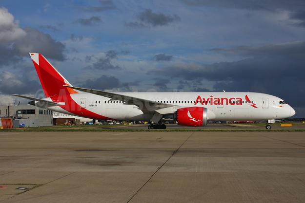 Avianca (Colombia) Boeing 787-8 Dreamliner N786AV (msn 37508) LHR (SPA). Image: 935193.