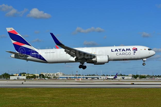 LATAM Cargo (Colombia) Boeing 767-316F ER WL N540LA (msn 35229) MIA (Ken Petersen). Image: 948857.
