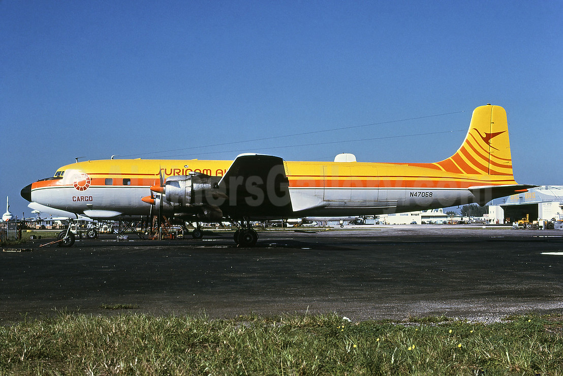 Surinam Airways (Bellomy Lawson Aviation) Douglas DC-6B (F) N47058 (msn 43842) MIA (Bruce Drum). Image: 102417.