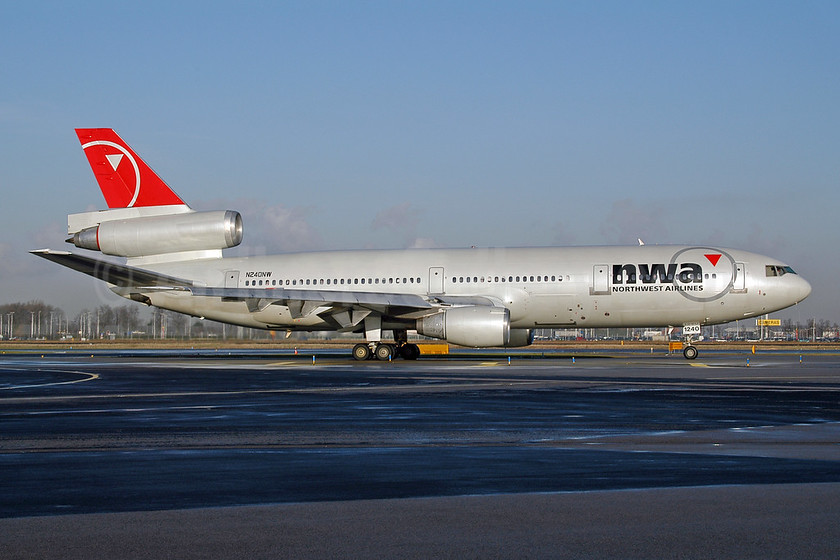 Northwest Airlines-NWA McDonnell Douglas DC-10-30 N240NW (msn 48319)  AMS (Ton Jochems). Image: 952812.
