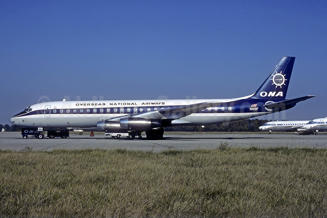 Overseas National Airways-ONA (1st) McDonnell Douglas DC-8-21 N819F (msn 45437) ILN (Jacques Guillem Collection). Image: 939413.