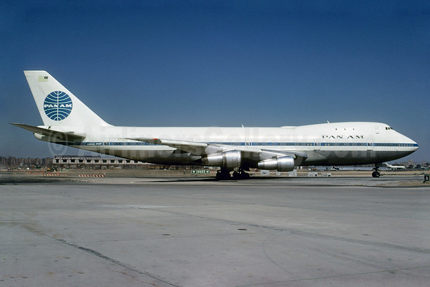 Pan Am (1st) Boeing 747-121 N748PA (msn 19652) JFK (Bruce Drum). Image: 102101.