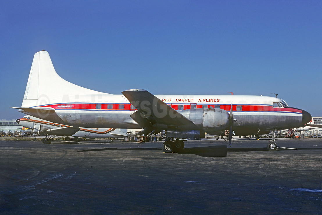 Red Carpet Airlines Convair 440-0 N910RC (msn 483) MIA (Bruce Drum). Image: 103773.