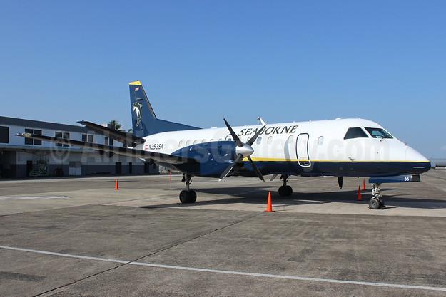 Seaborne Airlines SAAB 340B N353SA (msn 351) (Dolphin) SJU (Raul Sepulveda). Image: 922658.