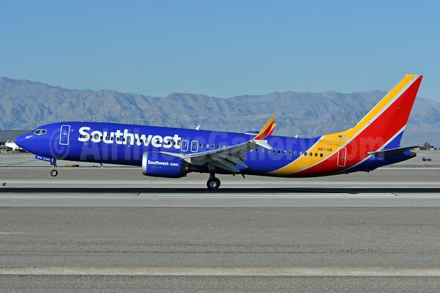 Southwest Airlines Boeing 737-8 MAX 8 N8716B (msn 42544) LAS (Ken Petersen). Image: 941280.