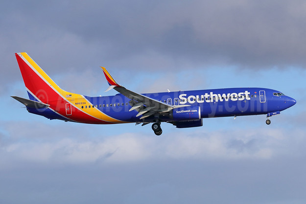 Southwest Airlines  Boeing 737-8H4 SSWL N8693A (msn 36921) LAX (Michael B. Ing). Image: 942439.