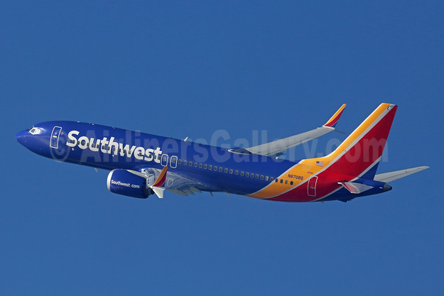 Southwest Airlines Boeing 737-8 MAX 8 N8708Q (msn 42566) LAX (Michael B. Ing). Image: 945962.