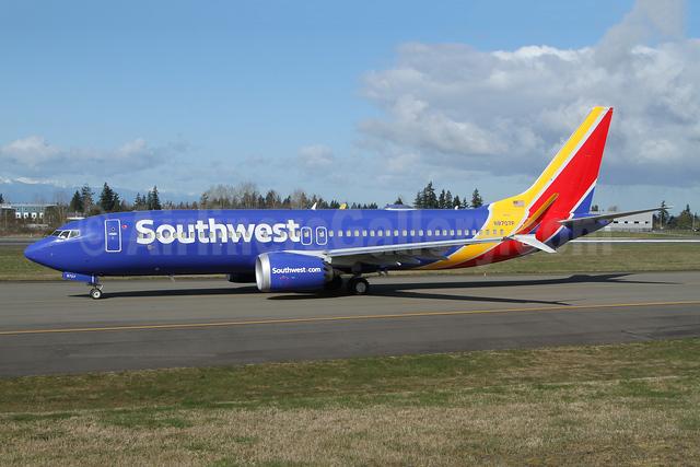 Southwest Airlines Boeing 737-8 MAX 8 N8707P (msn 36929) PAE (Nick Dean). Image: 953358.