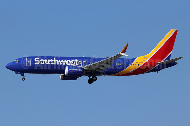 Southwest Airlines Boeing 737-8 MAX 8 N8705Q (msn 42558) LAX (Michael B. Ing). Image: 944056.