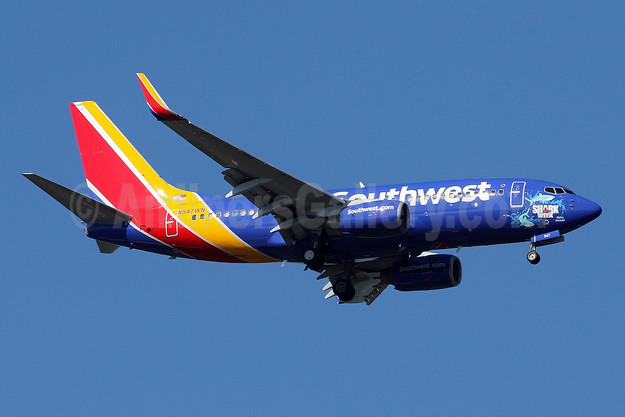 Southwest Airlines Boeing 737-7H4 WL N947WN (msn 32544) (Shark Week 30th - Bull Shark) IAD (Brian McDonough). Image: 943318.