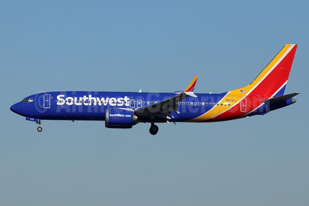 Southwest Airlines Boeing 737-8 MAX 8 N8721J (msn 42548) LAX (Michael B. Ing). Image: 945963.