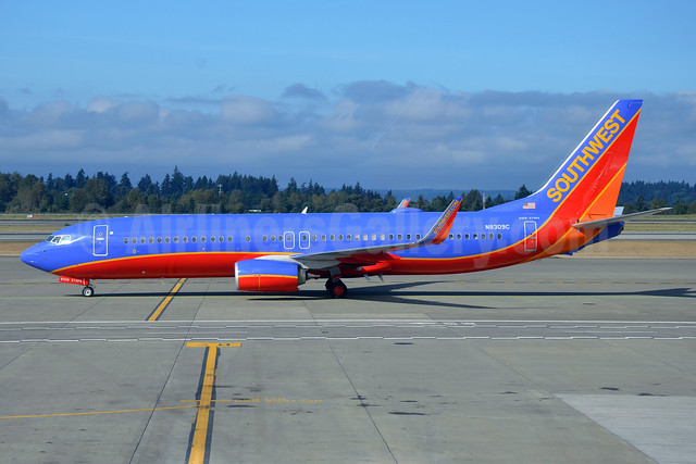 Southwest Airlines Boeing 737-8H4 WL N8309C (msn 36985) SEA (Bruce Drum). Image: 103324.