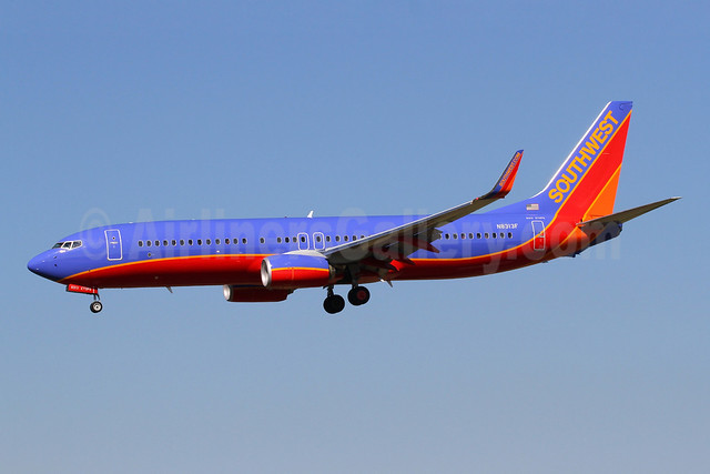 Southwest Airlines Boeing 737-8H4 WL N8313F (msn 38810) BWI (Brian McDonough). Image: 908930.